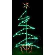 queens of christmas zig zag tree led light christmas decoration