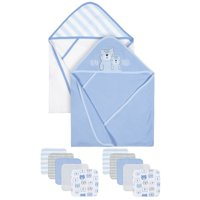 Gerber Organic Towels and Washcloths Bath Bundle, 12pc (Baby Boys)