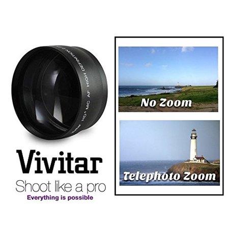Pro Hi Def 2.2x Telephoto Lens For Canon EOS Rebel T7i SL2 77D (58mm