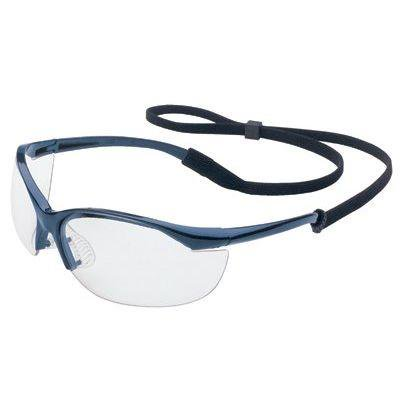 Vapor Safety Eyewear, Polycarbonate Lens, Clear, Metallic Blue