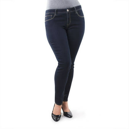 Jordache Women's Plus-Size Skinny Jeans  Available in Regular and Petite Lengths