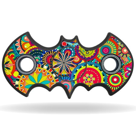 Skin Decal Wrap For Bat Shaped Fidget Spinner Toy Sticker Flower Wheels