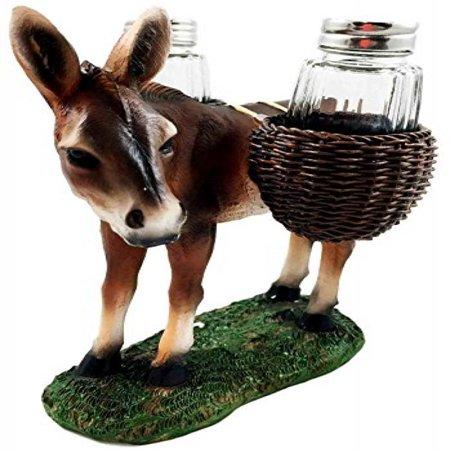 Animal Farm Donkey Carrying Saddlebags Of Spice Figurine Salt Pepper Shakers Holder Kitchen Decor Centerpiece Farmers Animal Lovers - Farm Centerpieces
