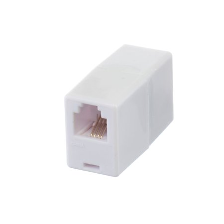 - Telephone Cord Coupler by THE CIMPLE CO | High Quality Phone In Line Coupler | 4 Conductor (2) Telephone Lines – 2 Pack (WHITE)