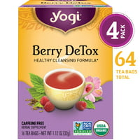 (Pack of 4) Yogi Tea, Berry DeTox Tea, Tea Bags, 16 Ct, 1.12 OZ