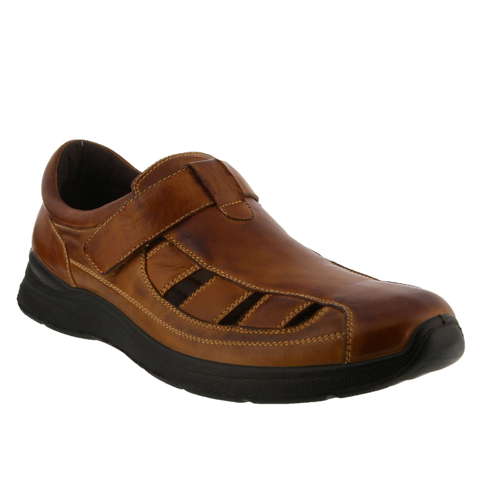 Spring Step MARK Mens Brown Leather Fisherman Sandal Shoes by
