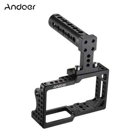 Andoer Video Camera Cage Stabilizer Protector with Top Handle for BMPCC Camera to Mount Microphone Monitor Tripod LED Light Photographic