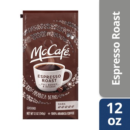 McCafe Espresso Ground Coffee, 12 oz Bag
