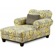 Chelsea Furniture 296600-CH-Y Carlen Chaise, Yellow