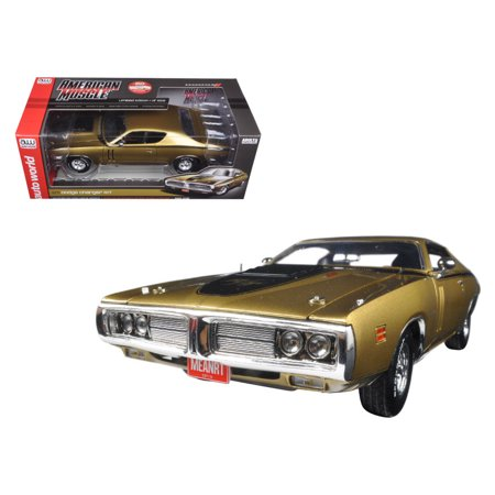 1971 Dodge Charger R/T 440 Six Pack 50th Anniversary GY8 Metallic Gold Ltd Ed to 1002pc 1/18 Diecast Model by Autoworld