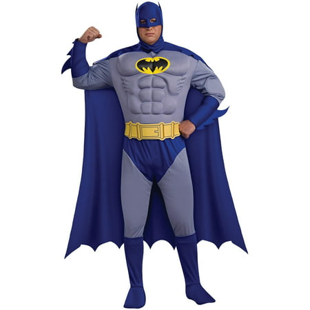 Brave Costume (Batman Brave and Bold Deluxe Muscle Chest Men's Adult Halloween)