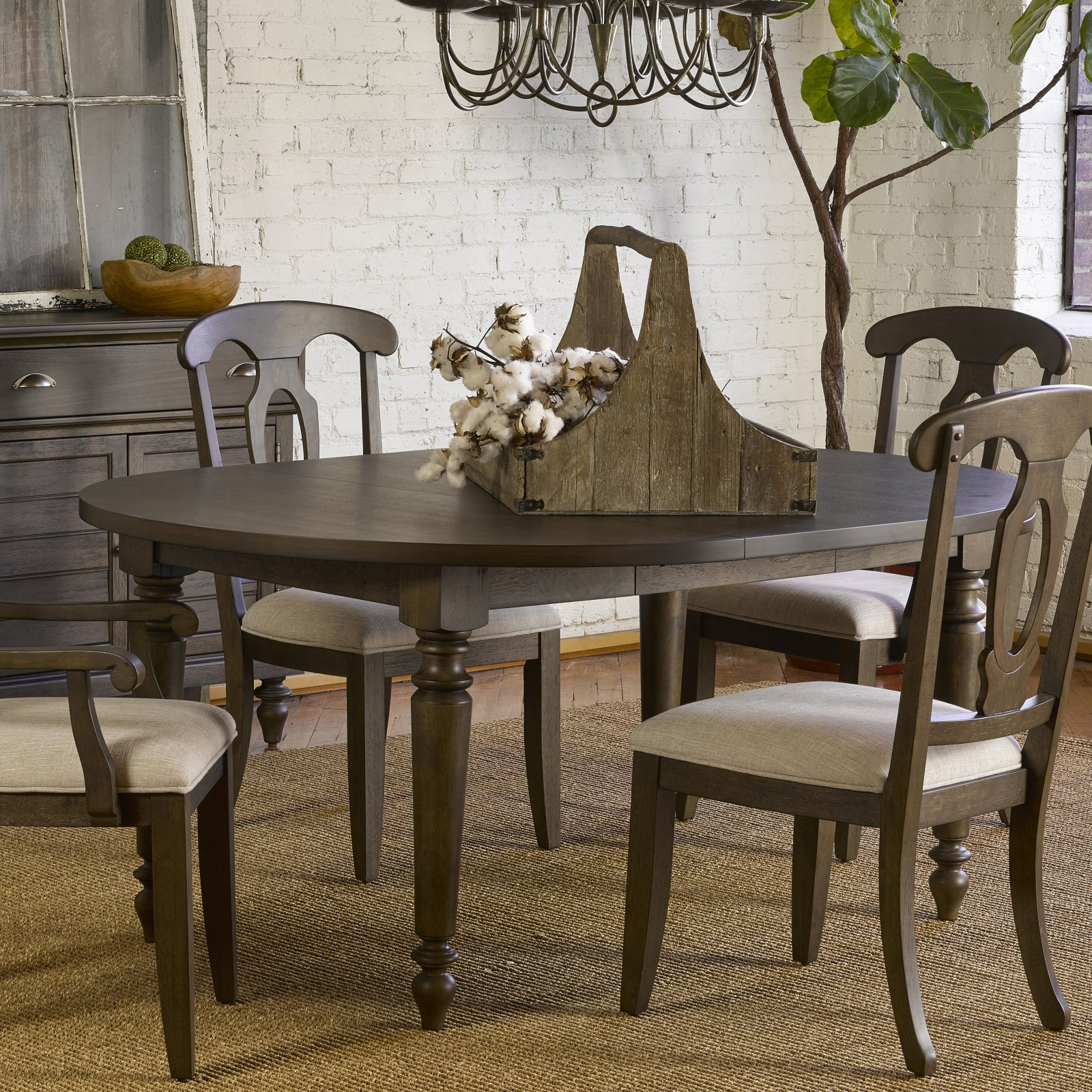 Broyhill Ashgrove 50 In Round Dining Table With Extension Walmart Com Walmart Com