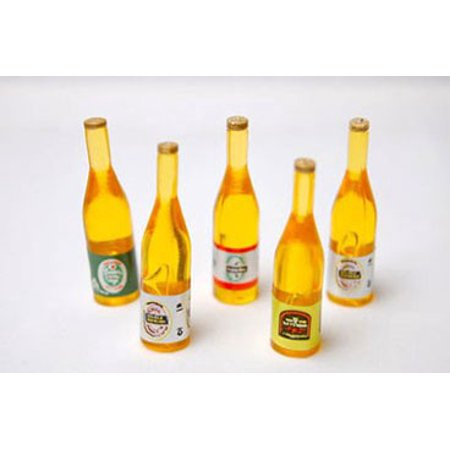 Dollhouse Beer Bottles, 5Pc Asst