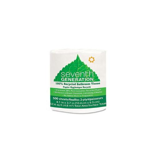 100% Recycled Jumbo Roll Bathroom Tissue, 2-Ply, White, 500/Roll, 60/Carton