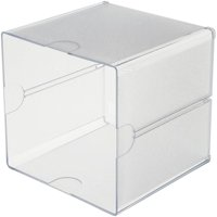 "Stackable Open Cube Storage Organizer, 6"" x 6"" x 6"", Clear"