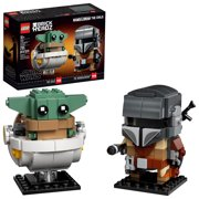 LEGO BrickHeadz Star Wars The Mandalorian & The Child 75317 Cool Collectible Star Wars Building Toy (295 Pieces)