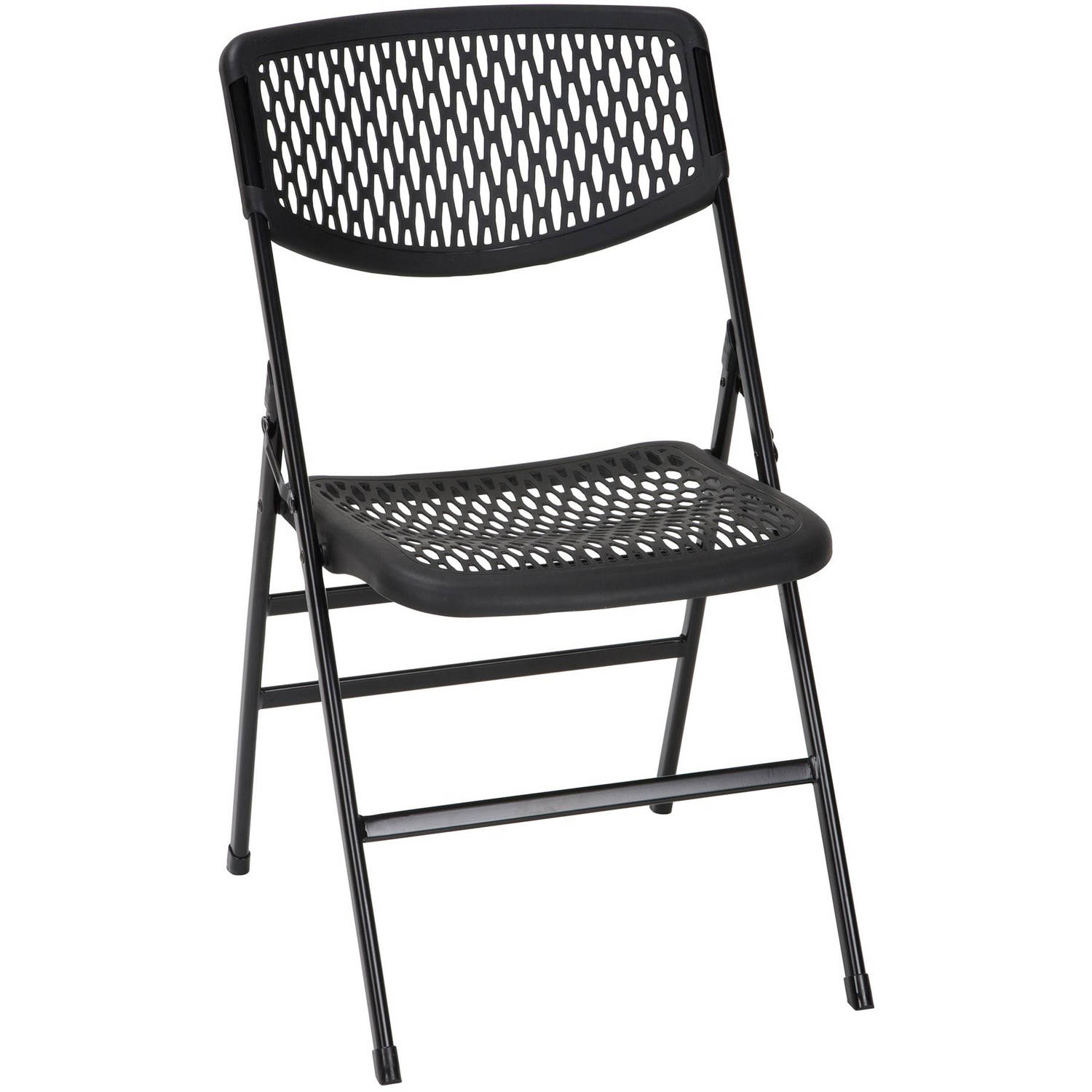 Charmant Cosco Commercial Resin Mesh Folding Chair, 4 Pack, Multiple Colors