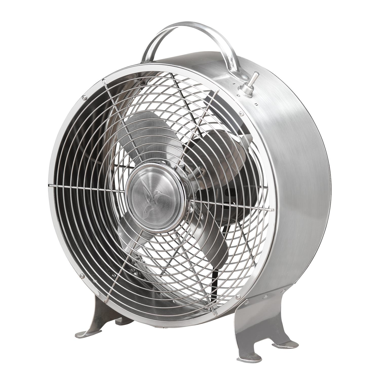 "12.5"" Silver Stainless Retro Metal Two Speed Adjustable Tilt Portable Floor Fan"