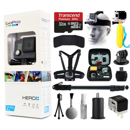 gopro hero camera camcorder chdhc 101 32gb card head chest strap flo. Black Bedroom Furniture Sets. Home Design Ideas