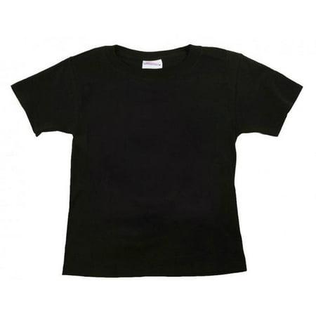 Black Plain Toddler and Kids T Shirt