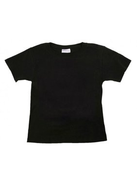 2a4cf967c Product Image Black Plain Toddler and Kids T Shirt