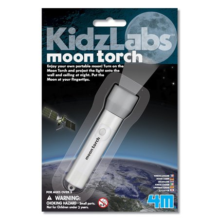 Kidz Labs Moon Torch Kit  Carry The Beauty Of Moonlight And Project It Anywhere With This Convenient Moon Torch  By 4M