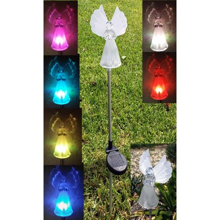 Solar Butterfly Color Change Changing Light Garden Stakes Garden - (Butterfly Stake Light)
