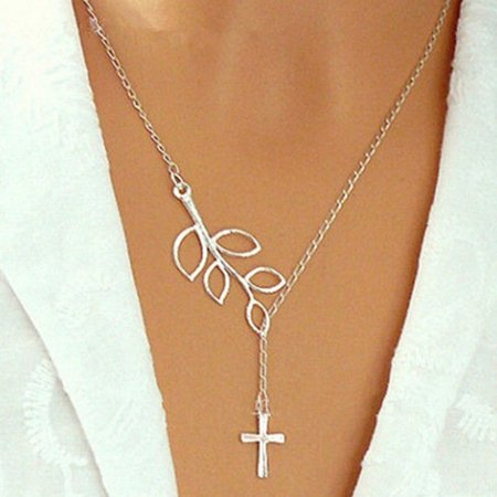 Trendy Cross Pendant Fashion Necklace (Wood Cross Necklace)
