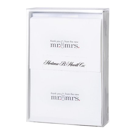 Black & White Mr. & Mrs. Thank You Cards: 50 pieces (Black And White Thank You Cards)