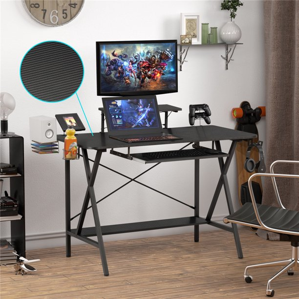 Robot Gxg Computer Gaming Desk Pc Gaming Desk Computer Desk With Keyboard Tray 47 Professional Gaming