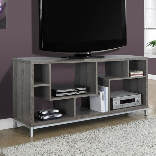 "Monarch Tv Stand Dark Taupe For TVs Up To 60""L"