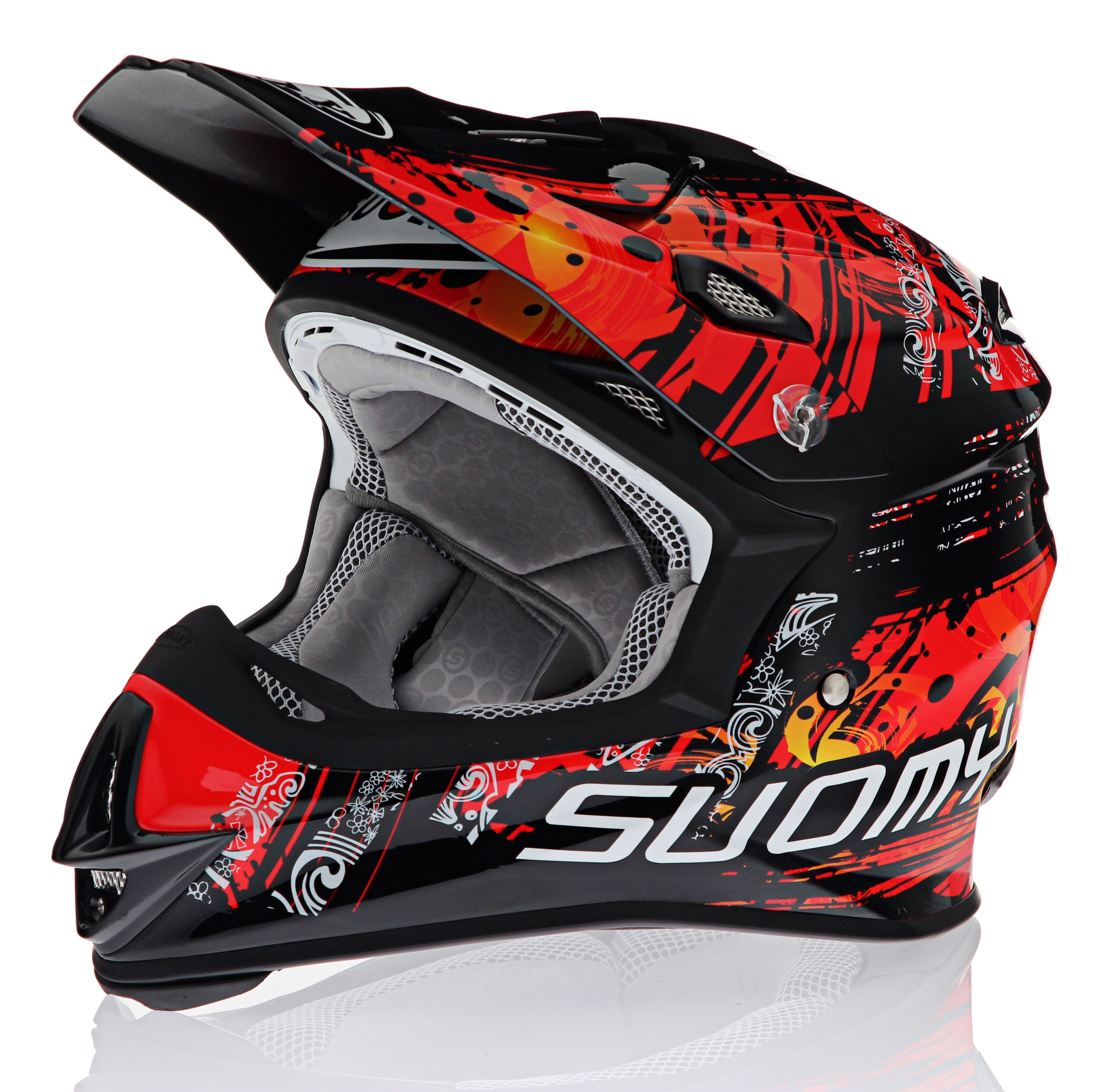 Suomy MX Jump Maori Red Helmet