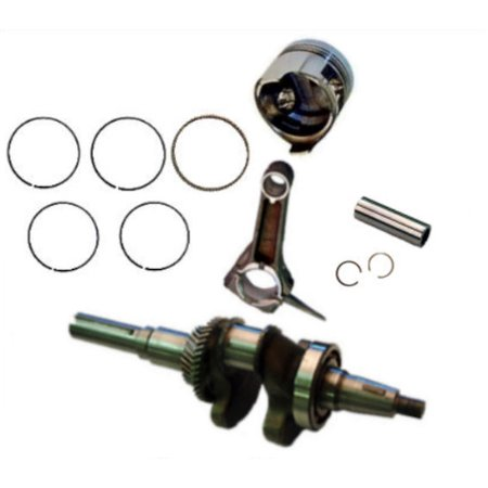 - FITS HONDA GX340 ROLLER KIT WITH CRANKSHAFT PISTON RINGS CON ROD PIN AND CLIPS GX 340