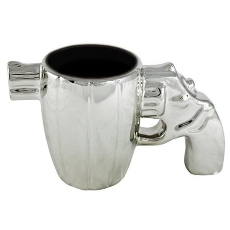 Forum Novelties Chrome Gun Pistol Coffee Mug ()