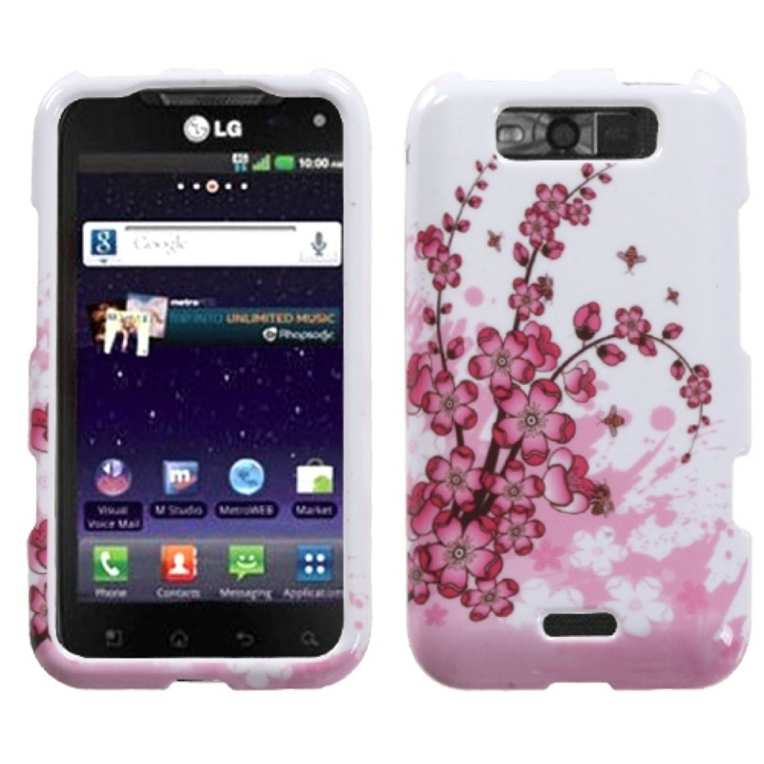 Insten Spring Flowers Phone Case for LG: MS840 (Connect 4G), LS840 (Viper)