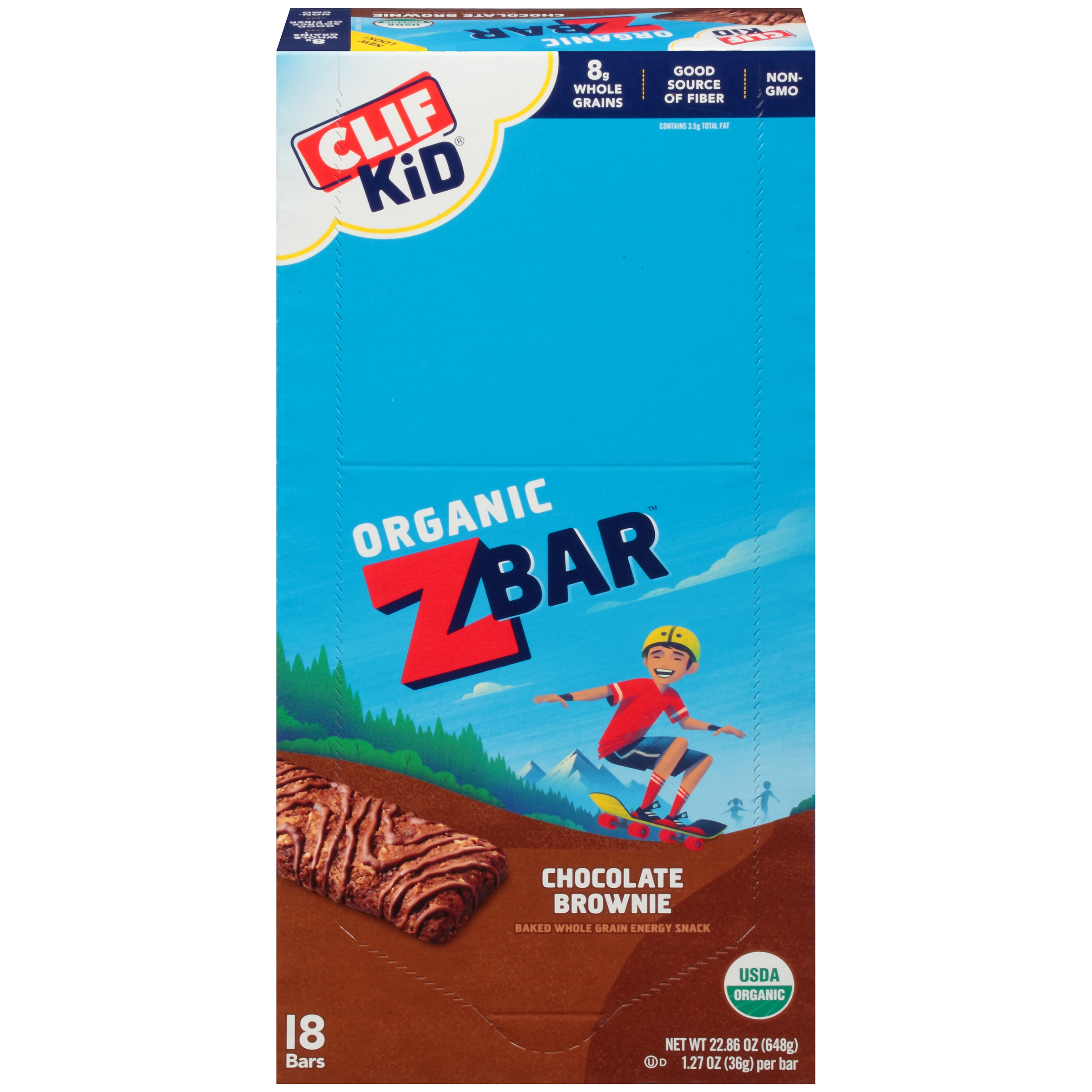 Clif Kid® Zbar Chocolate Brownie, 1.27 Oz, 18 Ct