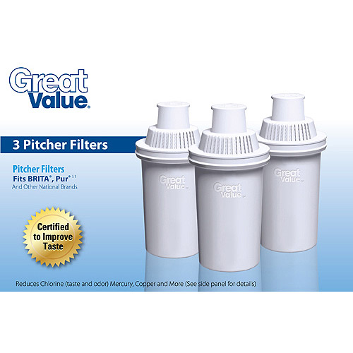 Great Value Pitcher Filters, 3-Pack