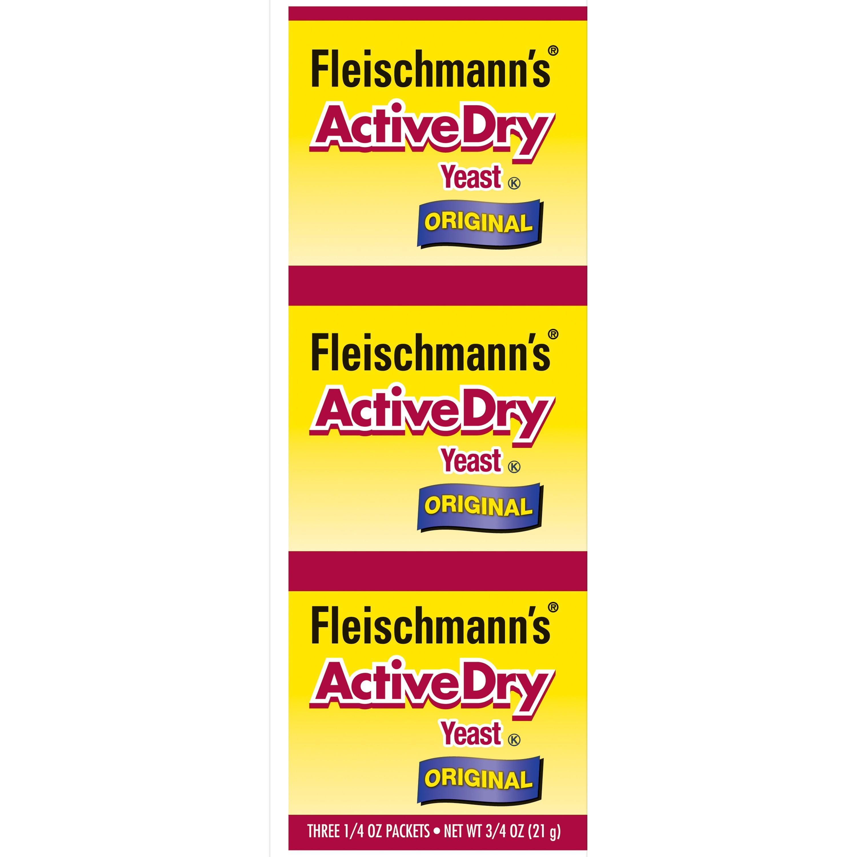 Fleischmann S Active Dry Yeast 0 75 Oz 3 Packets Walmart Com Walmart Com