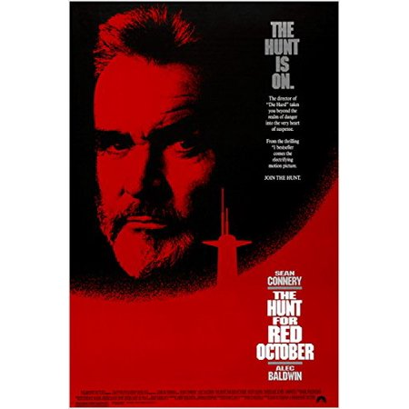 Tom Clancy'S The Hunt For Red October 1990 Movie Poster Sean Connery (Mouse Hunt Poster)