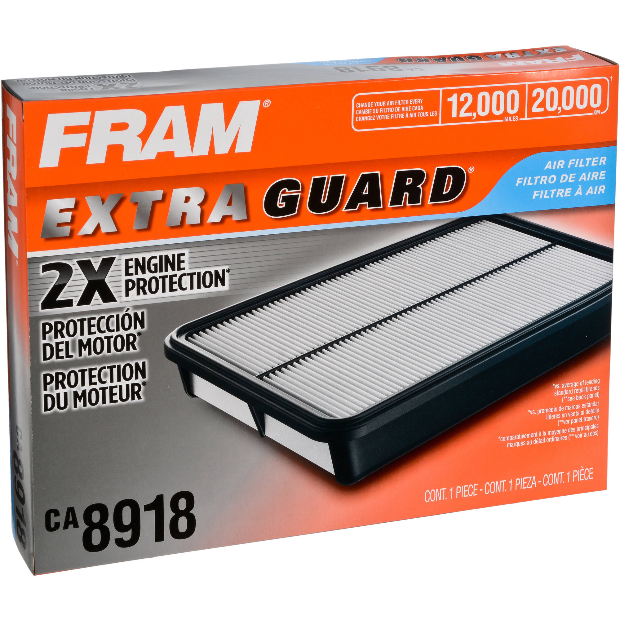 FRAM Extra Guard Air Filter, CA8918