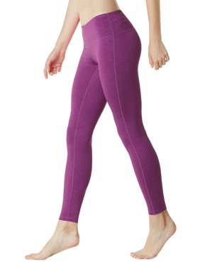 a13bfab498f628 Product Image Tesla FYP41 Women's Mid-Waist Ultra-Stretch Yoga Pants -  Heather Purple