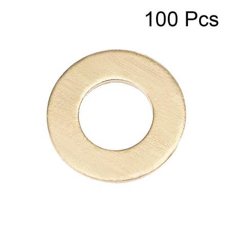100Pcs 6.3mm x 12mm x 1.5mm Copper Flat Washer for Screw Bolt - image 2 de 3