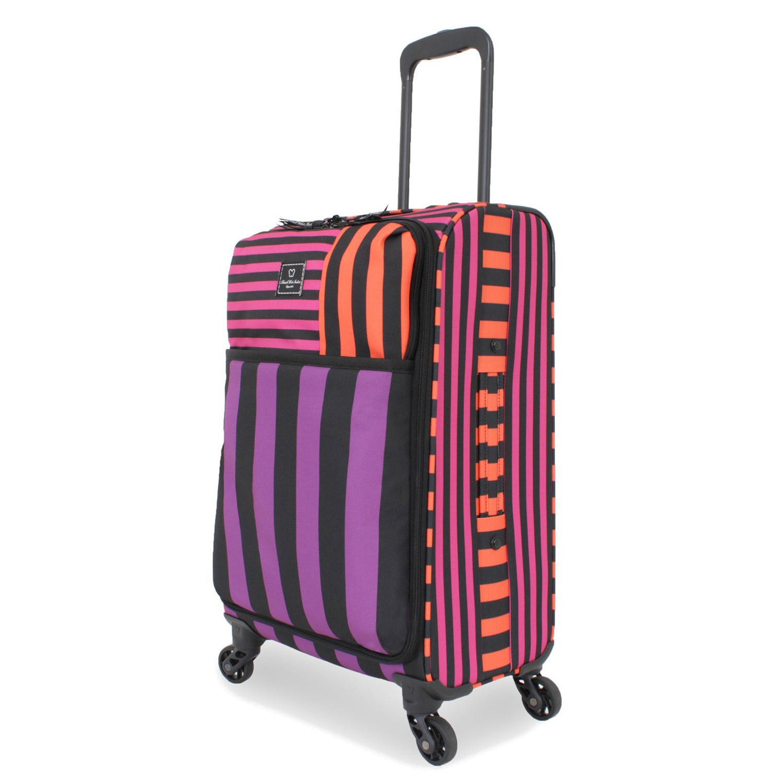 "French West Indies Lightweight 20"" Carry-On Spinner Suitcase - Pop Flower Purple"