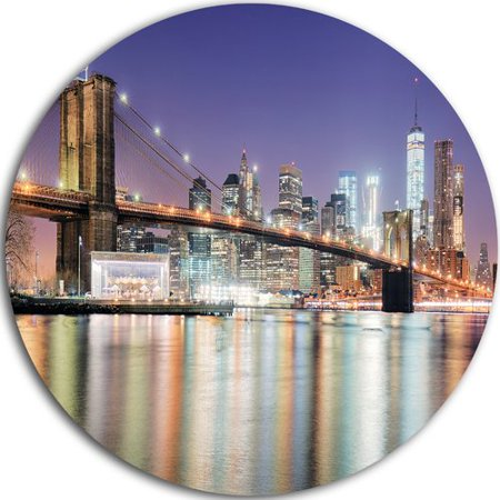 Design Art 'New York City with Freedom Tower' Photographic Print on (Freedom Metal)
