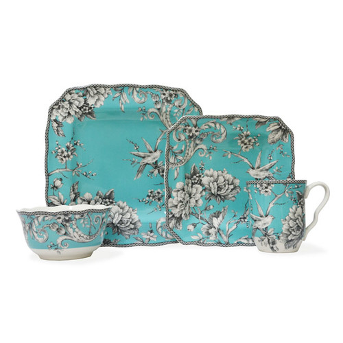 222 Fifth Adelaide 16 Piece Dinnerware Set, Service for 4 by