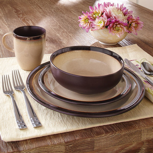 Charmant Better Homes And Gardens 16 Piece Sierra Dinnerware Set, Beige   Walmart.com