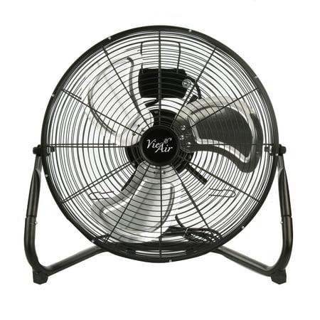 """Vie Air 18"""" High Velocity Floor 3-Speed Fan, Model #VA-18, Black"""