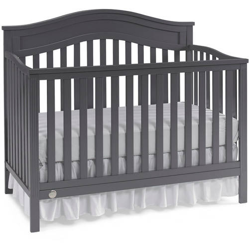 Fisher-Price Aubree 4-in-1 Convertible Crib, Snow White
