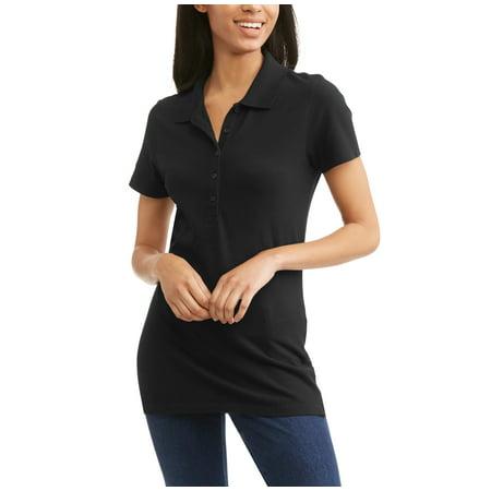 0647c9209c0 Time and Tru - Women s Essential Short Sleeve Polo T-Shirt - Walmart.com