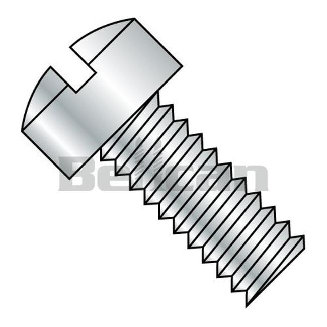 0.25-20 x 1.25 Slotted Fillister Head Fully Threaded Machine Screw - Zinc - Box of 2000 - image 1 de 1
